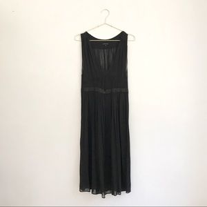 NWOT Theory LBD Black Silk Chiffon Gathered Dress